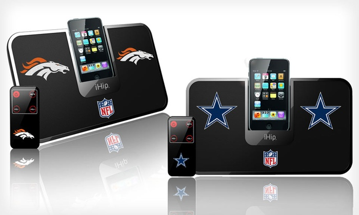 iHip NFL Portable iDock Speaker Systems: $13.99 for an iHip NFL Portable iDock Speaker System ($49.95 List Price). Multiple Teams Available. Free Returns.