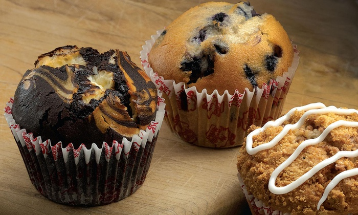 My Favorite Muffin - West Des Moines: One or Two Groupons, Each Good for One Dozen Large Gourmet Muffins at My Favorite Muffin (41% Off)