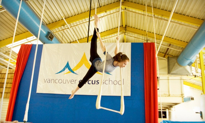 Vancouver Circus School - New Westminster: One-Week Circus Day Camp for Ages 6–16 at Vancouver Circus School (Up to 61% Off). Four Weeks Available.