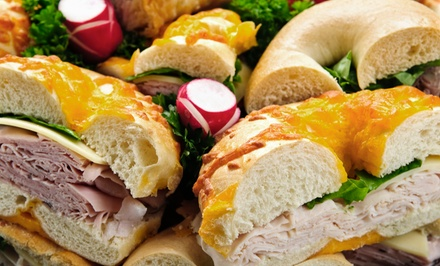 Baker's Dozen Bagels with Cream Cheese, or Sandwiches and Drinks at The Bagel Loft (Up to 51% Off)