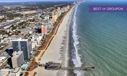 groupon daily deal - Stay at Patricia Grand Resort Hotel in Myrtle Beach, SC. Dates Available into May.