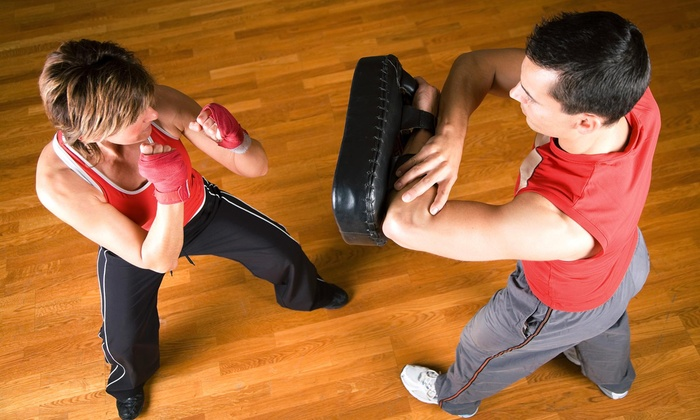 Box-fit, Stamford / Pink Gloves Boxing Stamford - Harbor Point: Three Personal Training Sessions with Diet and Weight-Loss Consultation from Box-Fit, Stamford (55% Off)