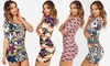 Women's Aztec-Print Bodycon Mini Dress: Women's Aztec-Print Bodycon Mini Dress