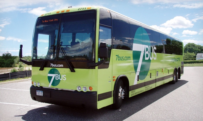 7Bus - NY: Round-Trip Bus Ride from Manhattan to Long Island from 7Bus (Up to 60% Off). Four Destinations Available.