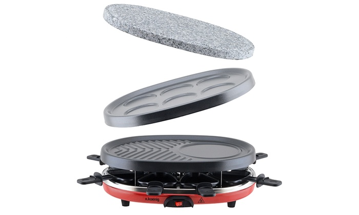 appareil à raclette 4 en 1 h.koenig | groupon shopping