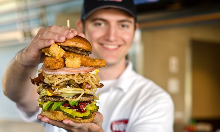 The Original WOW! Burger - Wilsonville: $13 for Two Burgers, Two Drinks, and Two Fries or Tots at The Original WOW! Burger (Up to $26.46 Value)