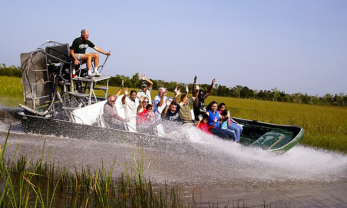 Everglades Alligator Farm - Everglades: Alligator Show and Airboat Ride for One, Two, or Four at Everglades Alligator Farm