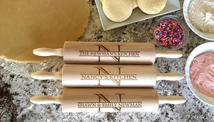 One Or Two Personalized Rolling Pins From American Laser Crafts