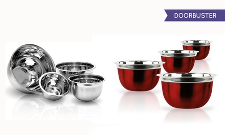 Stainless-Steel German Mixing-Bowl Set (4-Piece)