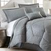 Hotel New York 6pc Embossed Bamboo Print Comforter Set