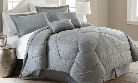 Hotel New York 6pc Embossed Bamboo Print Comforter Set from $34.99–$59.99