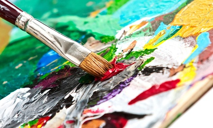 Painting Class for One, Two, or Four at Van Gogh & Vino (Up to 51% Off)