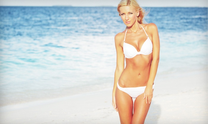AuRycl Tan - Clackamas: One, Three, or Five Spray Tans with One Bottle of Exfoliator Gel at AuRycl Tan (Up to 56% Off)