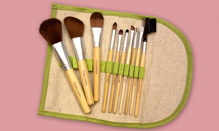 Beaute Basics Eco-Friendly Makeup Brush Set: $13.99 for a 10-Piece Beaute Basics Eco-Friendly Makeup Brush Set ($84.95 List Price). Free Returns.