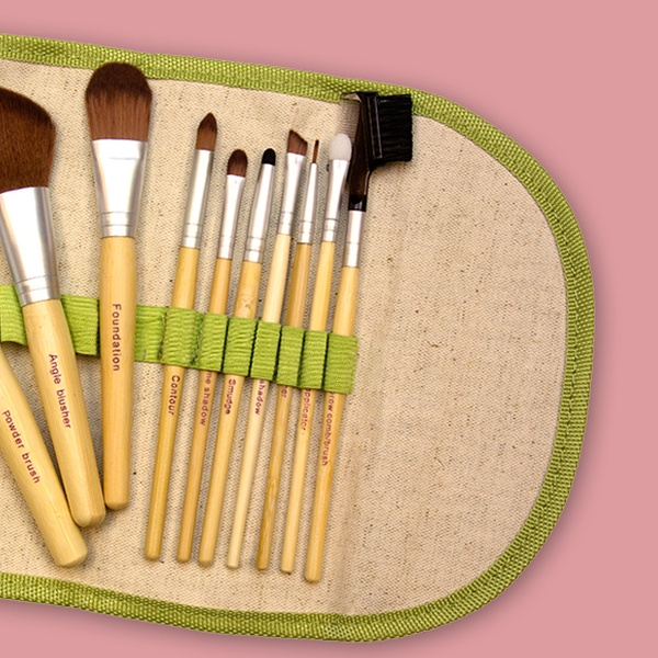 $13 99 for a 10-Piece Beaute Basics Eco-Friendly Makeup Brush Set ($84 95  List Price)  Free Returns
