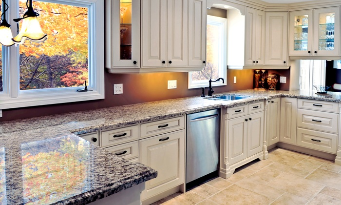 Granite Heroes - Chicago: Seal, Polish, and Cleaning for Three, Six, or Nine Linear Feet of Stone Countertop from Granite Heroes (50% Off)