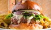 Hurricane Grill - North Vancouver: C$18 for a Choice of Burgers and Fries for Two at Hurricane Grill (Up to C$28 Value)
