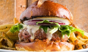 Hurricane Grill: CC$18 for a Choice of Burgers and Fries for Two at Hurricane Grill (Up to CC$28 Value)