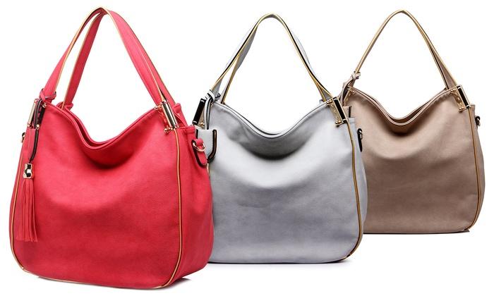 MKF Collection Handbag with Tassel Accent