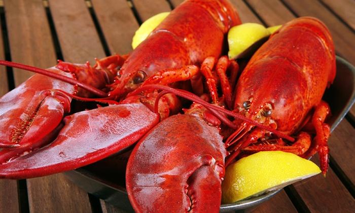 Get Maine Lobster Fresh Lobster Bundles: 4, 6, 12, or 24 Fresh Lobsters, Black Point Lobster Bake for 2, or Lobster Bake for 4 from Get Maine Lobster