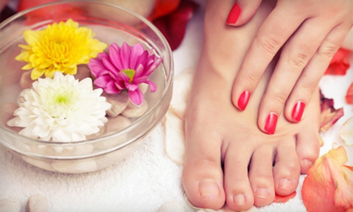 Nails by Melissa located inside The Powder Room Salon & Spa - Brandon: One or Two Basic Mani-Pedis at Nails by Melissa located inside The Powder Room Salon & Spa in Brandon (Up to 51% Off)