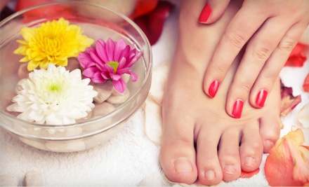 Basic Mani-Pedi (a $40 value) - Nails by Melissa located inside The Powder Room Salon & Spa in Brandon