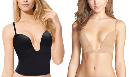 Women's Deep Plunge Neck Bra or Shaping Camisole in Standard and Plus Sizes from $21.99–$26.99