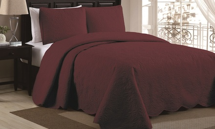 Tina or Melissa Queen Bedspread Set (3-Piece)