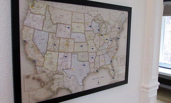 World Magnetic Pin Travel Maps Groupon Goods - Home magnetics us map