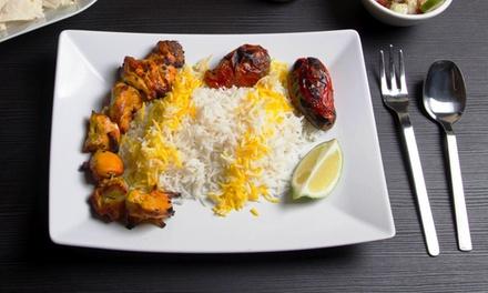 Menu persiano con vino rosso