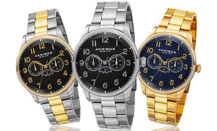 Akribos XXIV Men's Swiss Multifunction Watch