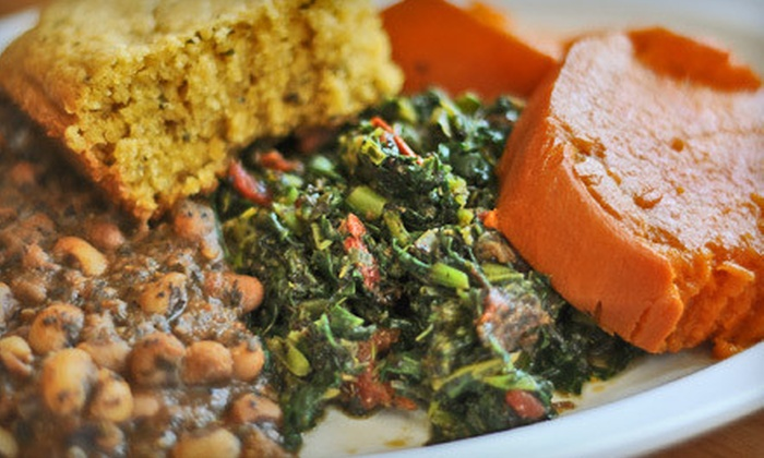 Souley Vegan - Produce and Waterfront: $12 for $25 Worth of Vegan Soul Food at Souley Vegan