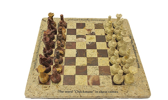 Marble Products International: $139 for Personalized Hand-Carved Marble Chess Set ($210 Value). Four Options Available.
