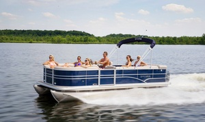 SkipperBud's: Half- or Full-Day Pontoon or Runabout Rental from SkipperBud's (Up to 62% Off)