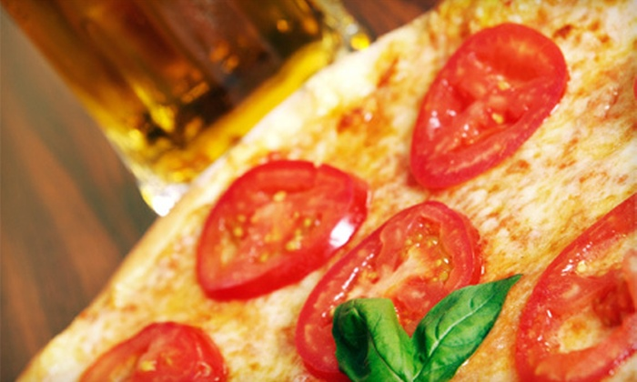 Lamppost Pizza - Multiple Locations: Pizza Dinner with Salad and Beer for Two, or $11 for $22 Worth of Pizzeria Food at Lamppost Pizza