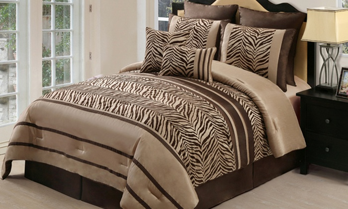Chic 8-Piece Comforter Set: Chic 8-Piece Comforter Set (Up to 48% Off). Multiple Options Available. Free Shipping and Returns.