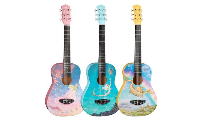 Luna AR2 Nylon Aurora Series Half-Size Acoustic Guitar with Gig Bag