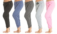 GROUPON: 2-Pack of Coco Limon Fleece Women's Jogger Pants 2-Pack of Coco Limon Fleece Women's Jogger Pants