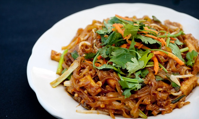 Thai Village - Ukrainian Village: Four-Course Thai Dinner for Two or $7 for $15 Worth of Thai Food for Lunch at Thai Village