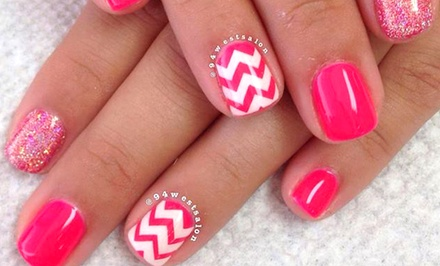 Basic or French Shellac Manicures or Nail Art Sessions at 94 West Salon (Half Off)