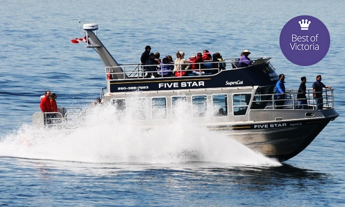 Five Star Whale Watching - Victoria: C$52 for a Three-Hour Whale-Watching Tour from Five Star (C$105 Value)