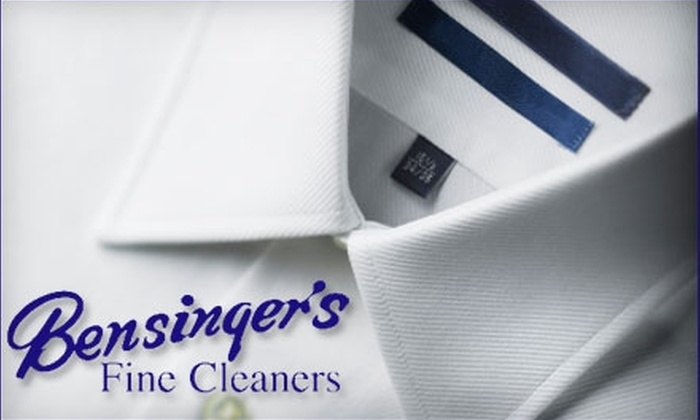 Bensinger's Fine Cleaners - Multiple Locations: $10 for $20 Worth of Dry Cleaning at Bensinger's Fine Cleaners