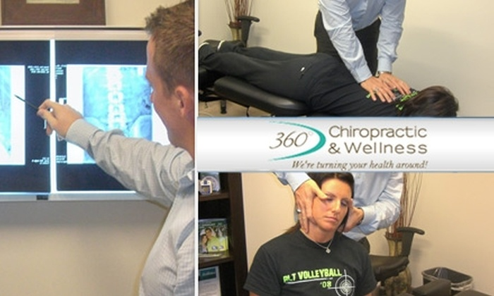 360° Chiropractic & Wellness - Frisco Corners: $49 for a Consultation, Exam, X-Rays, Adjustment, and Deep-Tissue Massage at 360° Chiropractic & Wellness ($535 Value) in Frisco