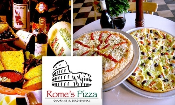 Rome's Pizza - Multiple Locations: $12 for $25 Worth of Pizza and Drinks at Rome's Pizza. Choose from Three Locations.
