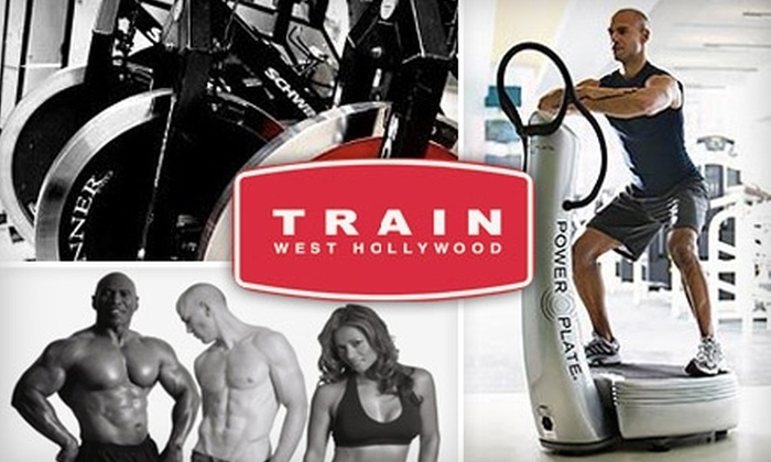 Train West Hollywood - West Hollywood: $30 for Two Power Plate Classes, Two Group Cycling Classes, and Two One-Day Gym Passes at Train West Hollywood ($126 Value)