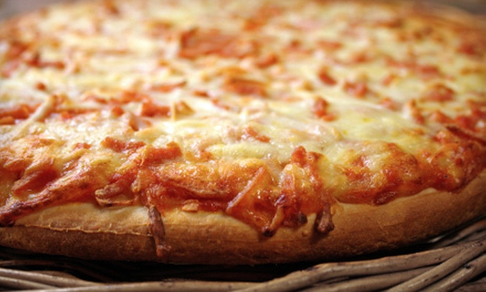 PC Pizza - Fitchburg: Cheese-Pizza Meal with Garlic Bread, Garlic Bread and Soda, or Garlic Bread and Milkshakes at PC Pizza (Up to 55% Off)