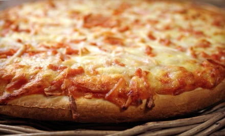 18-Inch Stone Baked Cheese Pizza and One Order of Garlic Bread (a $22.98 value) - PC Pizza in Fitchburg