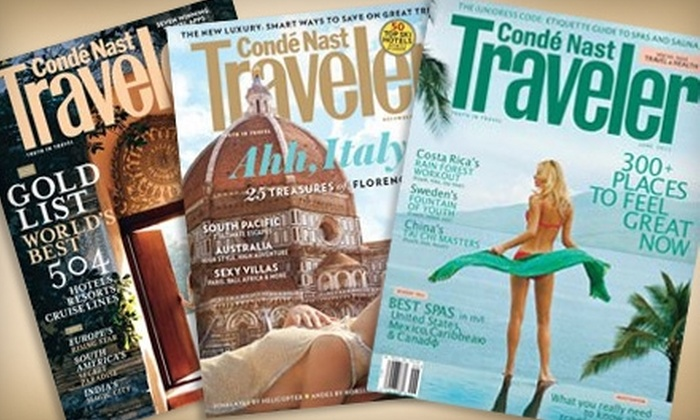"Condé Nast Traveler Magazine: $6 for 12 Issues of ""Condé Nast Traveler"" Magazine ($13 Value)"
