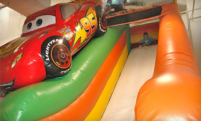 bounzCity - Evergreen: Inflatable Playland Visit with Arcade Tokens for Two or Four at bounzCity (Up to 56% Off)