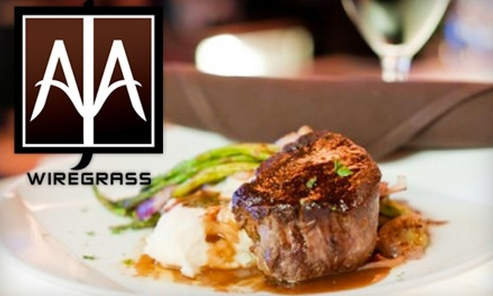 Aja Wiregrass - Central Pasco: $20 for $40 Worth of Contemporary Fare and Drinks at Aja Wiregrass (or $20 for $50 on Wednesday or Thursday)